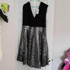 Torrid Black and Silver dress